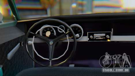 Dodge Dart Coupe para GTA San Andreas vista interior