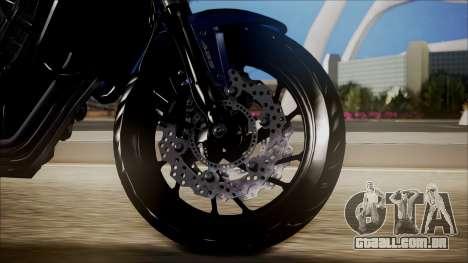 Honda CB650F Azul para GTA San Andreas traseira esquerda vista