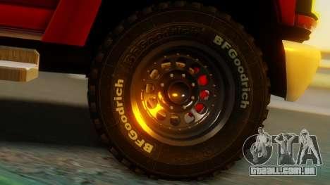 GMC Topkick C4500 para GTA San Andreas traseira esquerda vista