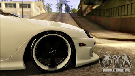 Toyota Supra 1998 E-Design para GTA San Andreas vista traseira