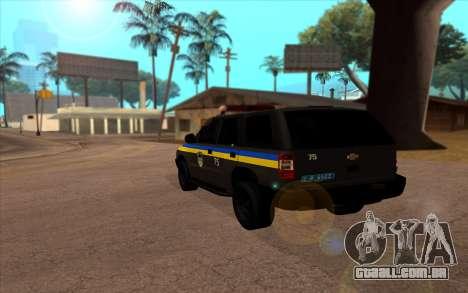 Chevrolet Blazer Berkut para GTA San Andreas esquerda vista