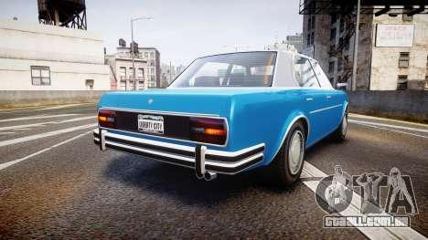 GTA V Benefactor Glendale para GTA 4 traseira esquerda vista