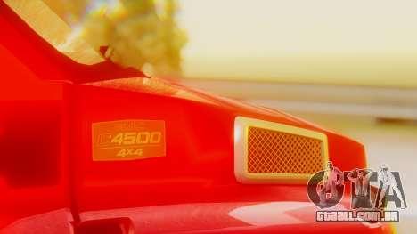 GMC Topkick C4500 para vista lateral GTA San Andreas