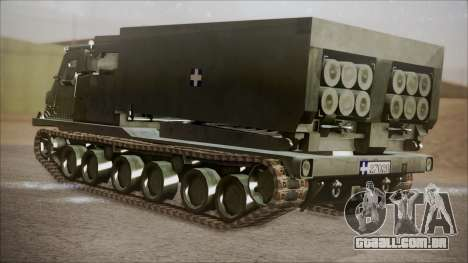 Hellenic Army M270 MLRS para GTA San Andreas esquerda vista