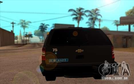Chevrolet Blazer Berkut para GTA San Andreas traseira esquerda vista