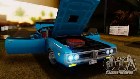 Dodge Charger Super Bee 426 Hemi (WS23) 1971 IVF para GTA San Andreas vista traseira