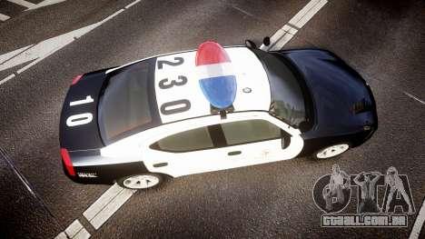 Dodge Charger 2010 LAPD [ELS] para GTA 4 vista direita