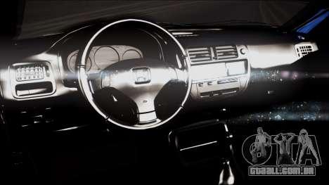 Honda Civic, B. O. Construção para GTA San Andreas vista direita