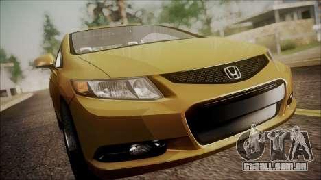 Honda Civic SI 2012 para GTA San Andreas vista traseira