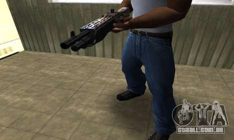 Brown Combat Shotgun para GTA San Andreas segunda tela