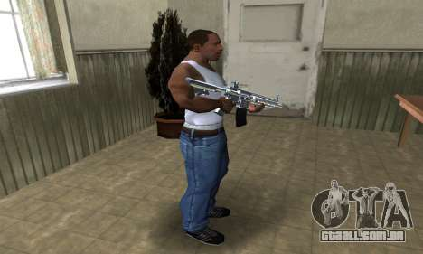 White Cool M4 para GTA San Andreas