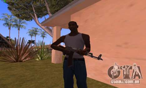 AK-47 from Battlefield Hardline para GTA San Andreas terceira tela