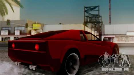 Cheetah New Edition para GTA San Andreas esquerda vista