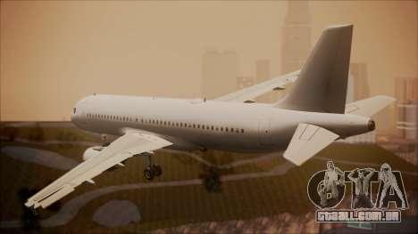 Airbus A320-200 para GTA San Andreas esquerda vista