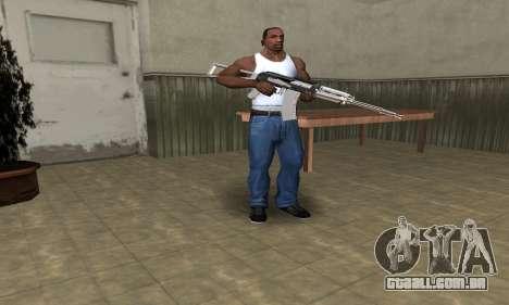 White with Black AK-47 para GTA San Andreas terceira tela