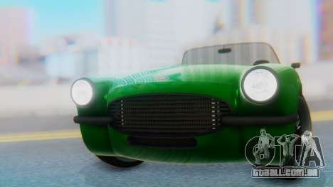 Invetero Coquette BlackFin v2 GTA 5 Plate para GTA San Andreas vista traseira