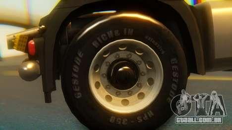Mercedes-Benz Actros MP4 Stream Space Black para GTA San Andreas vista direita