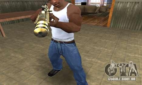 Gold Lines AK-47 para GTA San Andreas segunda tela