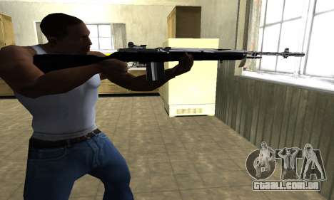 Full Black Rifle para GTA San Andreas segunda tela