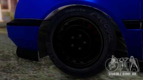 Volkswagen Golf 3 Pink Floyd para GTA San Andreas traseira esquerda vista