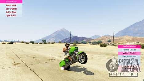 GTA 5 Indicadores para desenvolvedores v0.71 terceiro screenshot