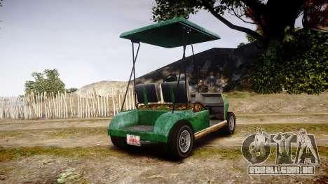 GTA V Nagasaki Caddy para GTA 4 traseira esquerda vista