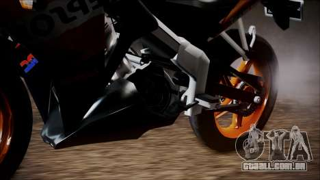 Honda CBR150R Repsol CBU para GTA San Andreas traseira esquerda vista