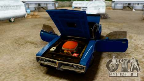 Dodge Charger Super Bee 426 Hemi (WS23) 1971 PJ para GTA San Andreas vista traseira