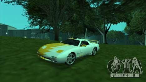 ZR-350 Double Lightning para GTA San Andreas vista inferior