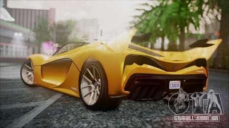 Grotti Turismo RXX-K para GTA San Andreas esquerda vista