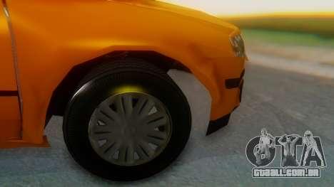 Samand Taxi para GTA San Andreas traseira esquerda vista