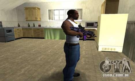 Blue Scan M4 para GTA San Andreas terceira tela