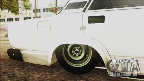 VAZ 2107 E-Design para vista lateral GTA San Andreas