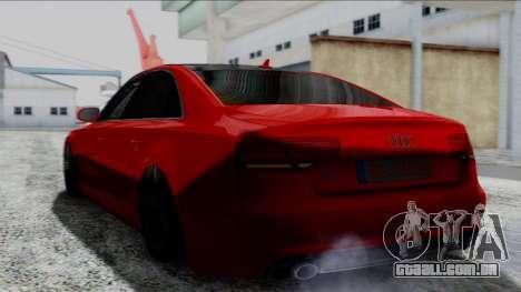 Audi A8 Turkish Edition para GTA San Andreas traseira esquerda vista