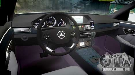 Mercedes-Benz E63 AMG Estate 2012 Police [ELS] para GTA 4 vista de volta