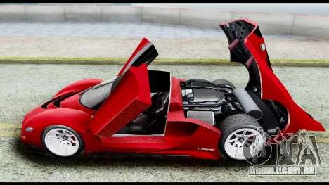 Grotti Turismo RXX-K v2.0 para GTA San Andreas vista traseira