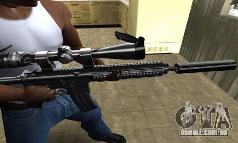 M4 with Optical Scope para GTA San Andreas segunda tela