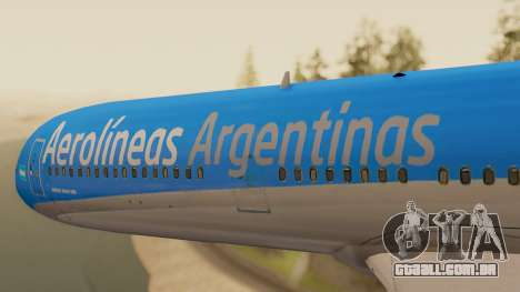 Boening 737 Argentina Airlines para GTA San Andreas vista traseira
