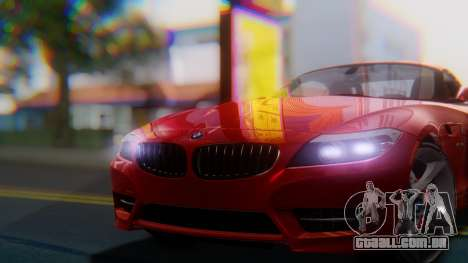 BMW Z4 sDrive35is 2011 2 Extras para GTA San Andreas vista direita