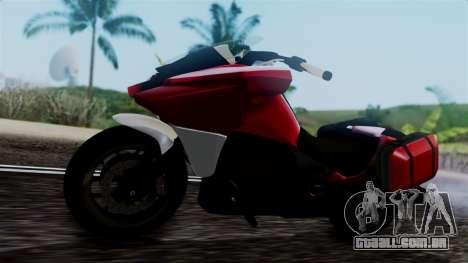 Dinka Vindicator SA Plate para GTA San Andreas vista direita