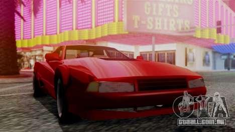 Cheetah New Edition para GTA San Andreas traseira esquerda vista