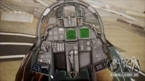 F-14D AC6 Halloween para GTA San Andreas vista traseira