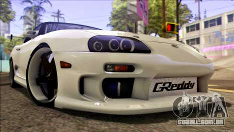 Toyota Supra 1998 E-Design para GTA San Andreas traseira esquerda vista