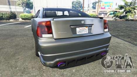 GTA 5 Bravado Buffalo Dodge Charger traseira vista lateral esquerda