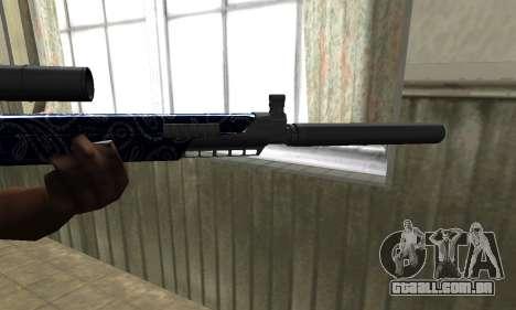 Blue Oval Sniper Rifle para GTA San Andreas segunda tela