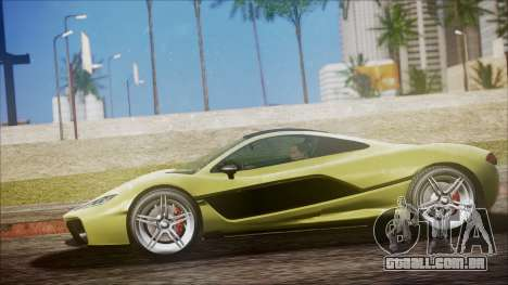 GTA 5 Progen T20 para GTA San Andreas traseira esquerda vista