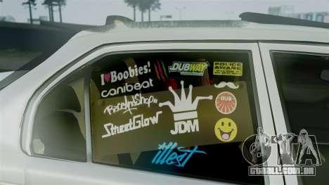 Toyota Corolla para GTA San Andreas vista direita