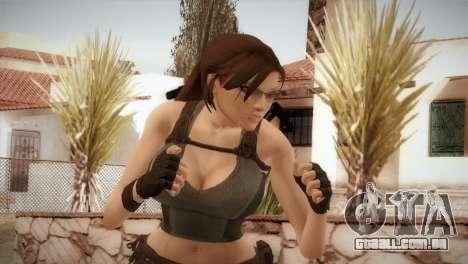Well Armed Lara Croft para GTA San Andreas terceira tela