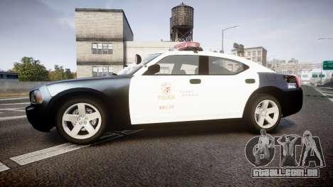 Dodge Charger 2010 LAPD [ELS] para GTA 4 esquerda vista