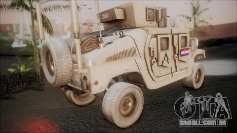 HMMWV Croatian Army ISAF Contigent para GTA San Andreas esquerda vista